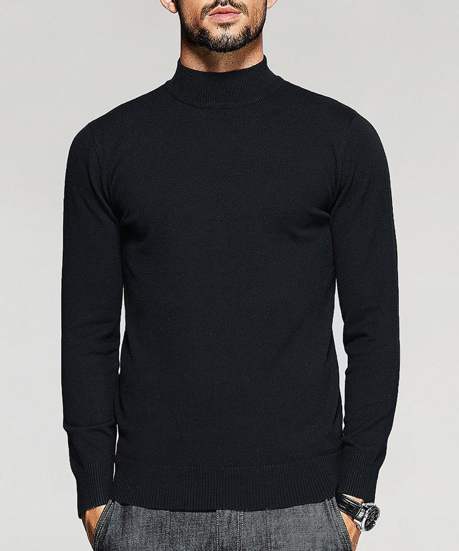 Black high neck jumper Sale - kuegou