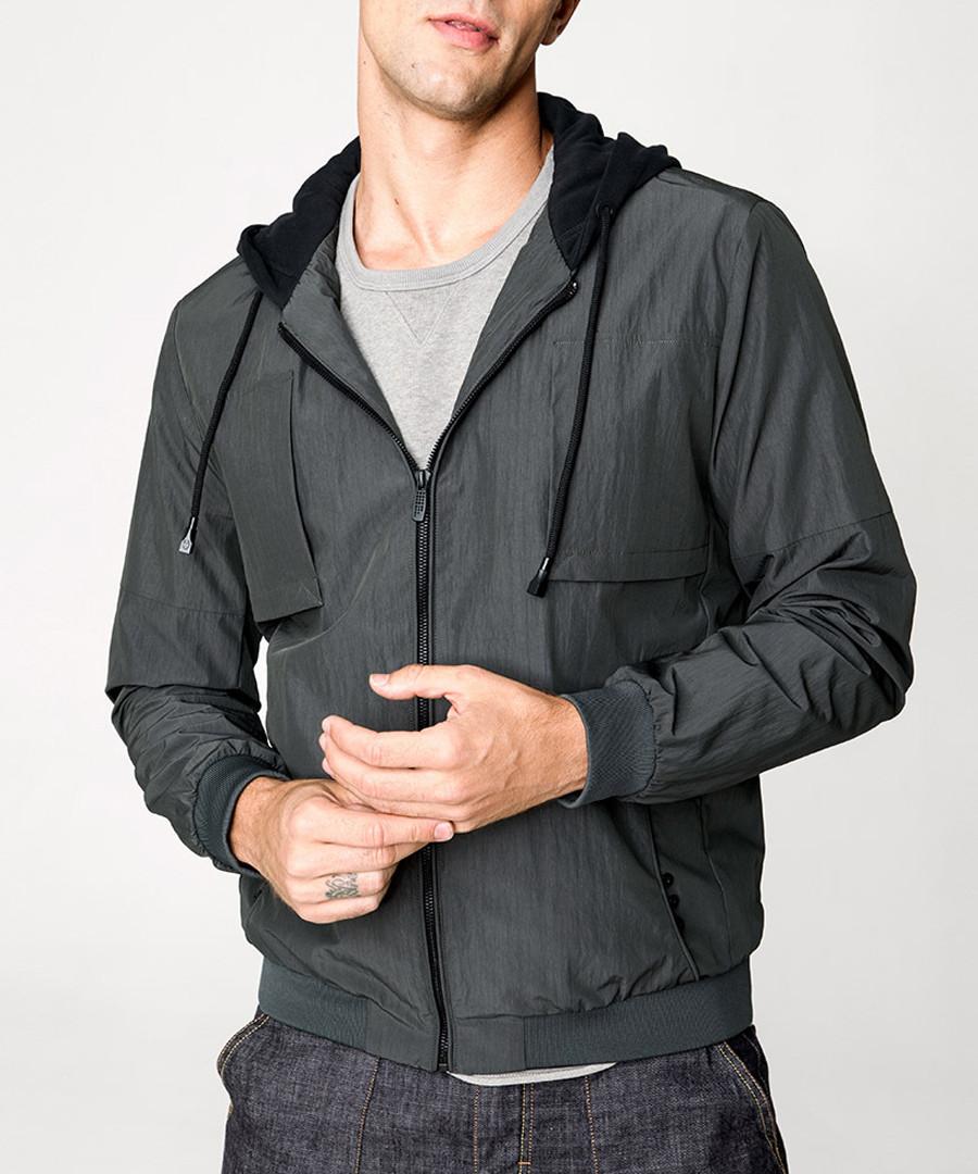Charcoal full-zip hoodie Sale - kuegou