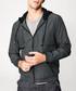 Charcoal full-zip hoodie Sale - kuegou Sale