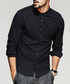 Black cotton button shirt Sale - kuegou Sale