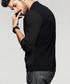 Black cotton button collar shirt Sale - kuegou Sale