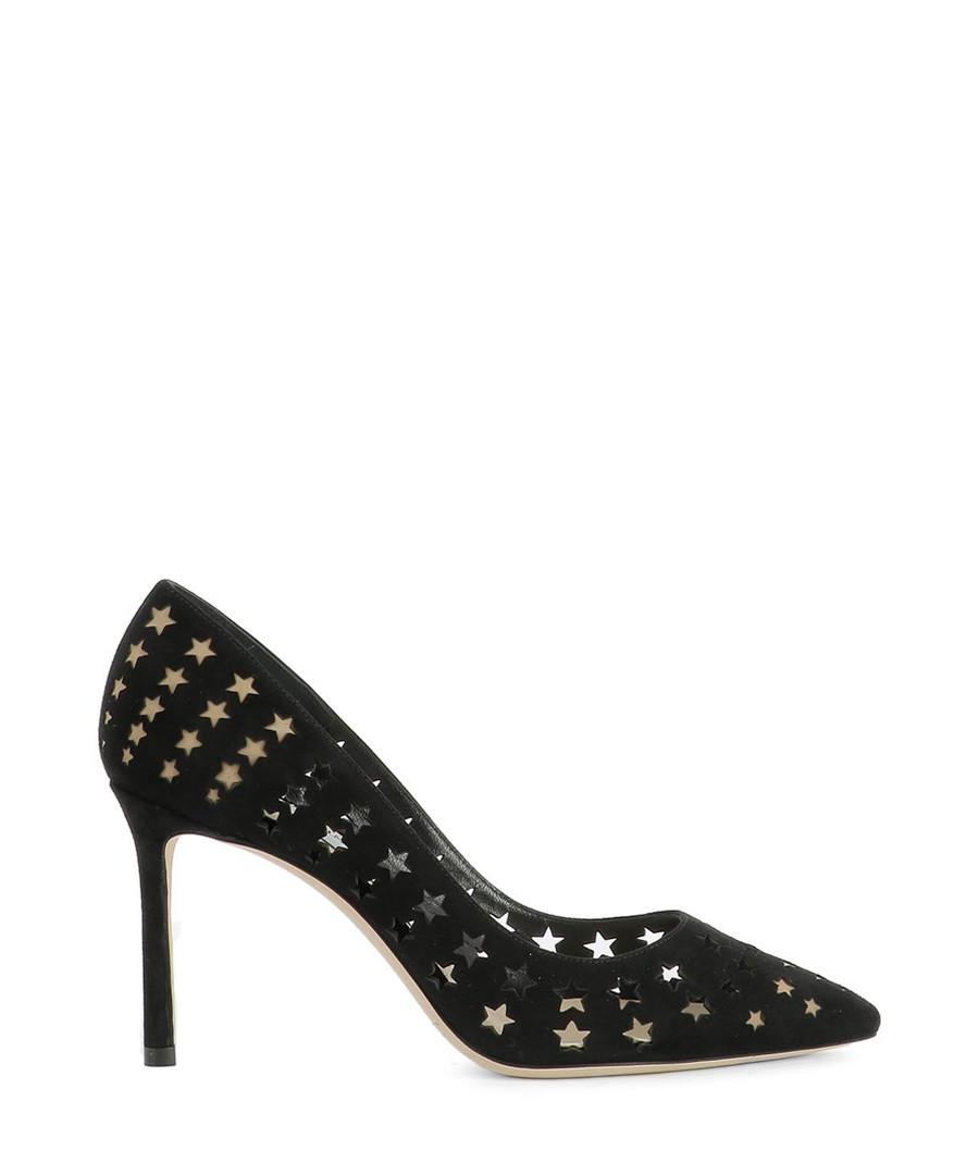 Black suede star punched heels Sale - jimmy choo