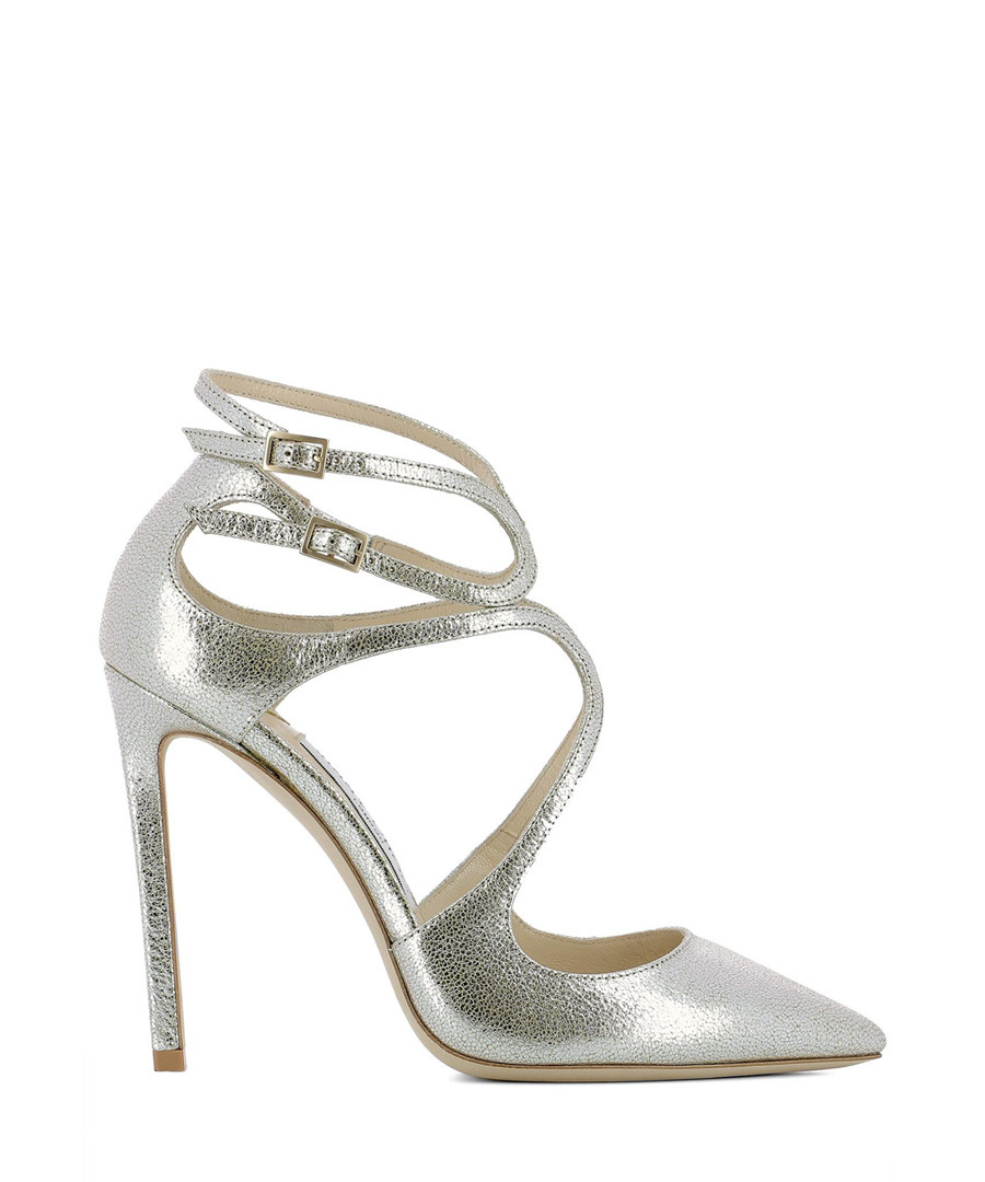 Lancer 110 gold leather stiletto heels Sale - jimmy choo