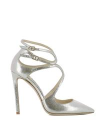 Lancer 110 gold leather stiletto heels