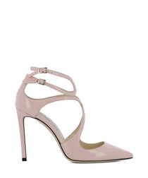 Lancer 100 pink leather heels