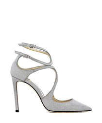 Lacer 100 silver leather heels
