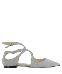 Lancer Flat silver leather sandals