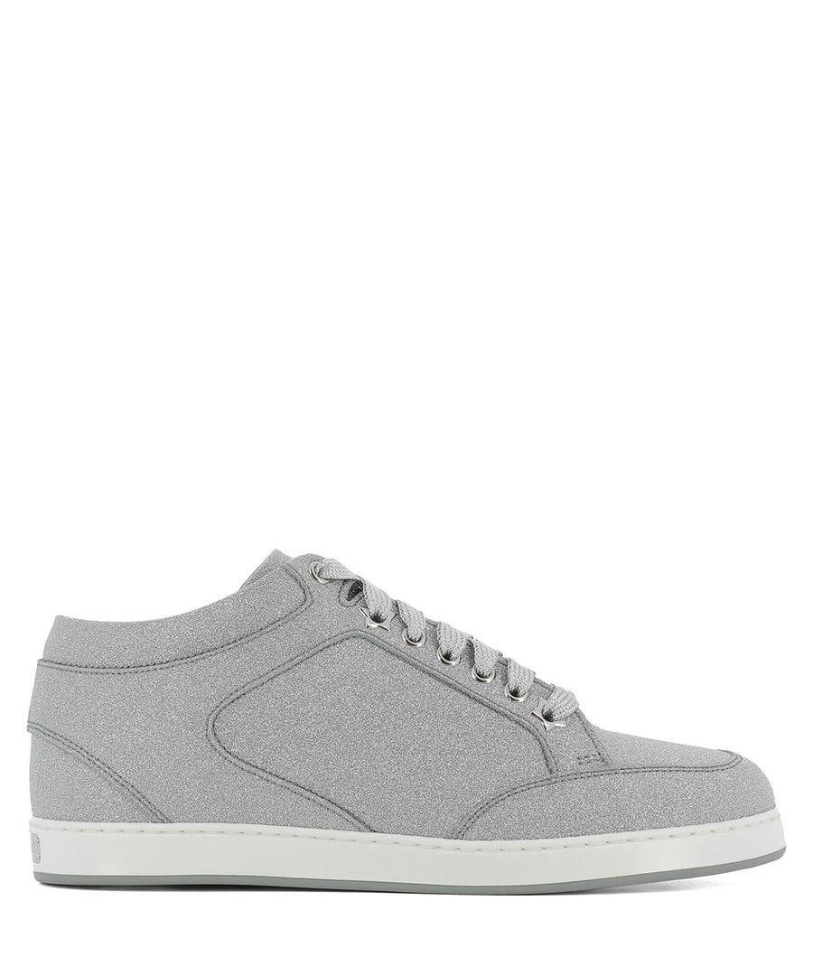 Grey leather mid sneakers Sale - jimmy choo