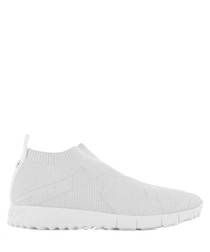 Norway white leather slip-on sneakers