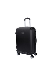 Flower black spinner suitcase 66cm