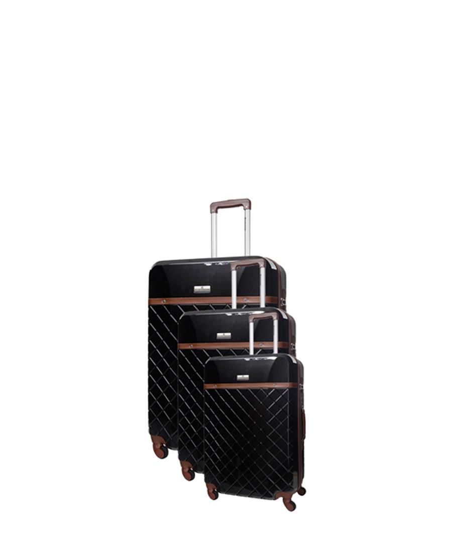 3pc Trendy black spinner suitcase nest Sale - platinium
