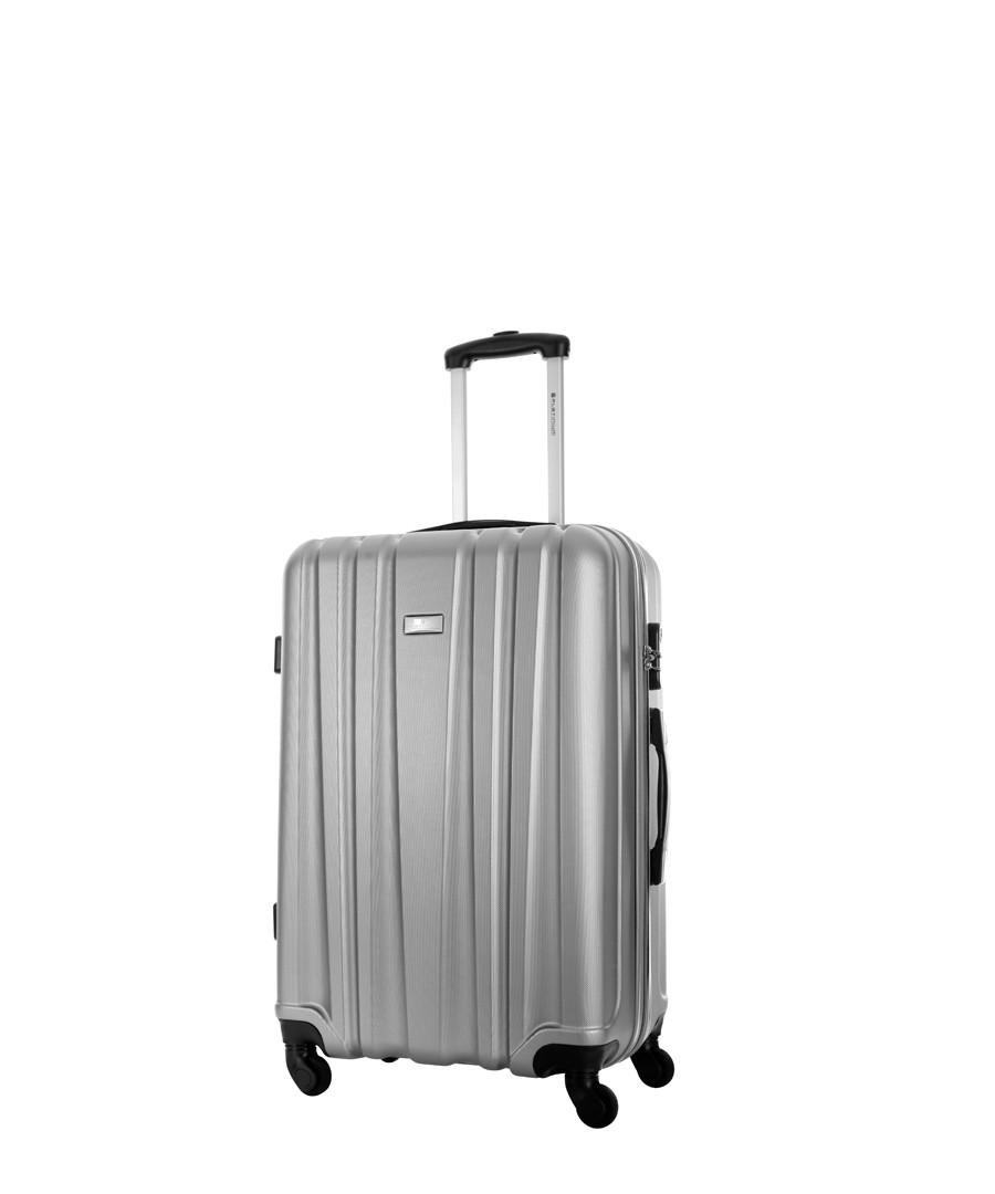 Akina silver spinner suitcase 56cm Sale - platinium