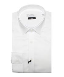 White pure cotton textured shirt