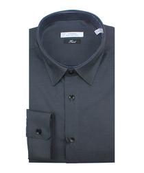 Black pure cotton textured shirt