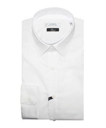 White pure cotton smooth shirt