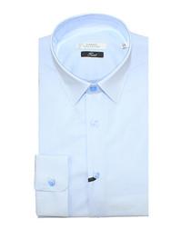 Pale blue pure cotton check shirt