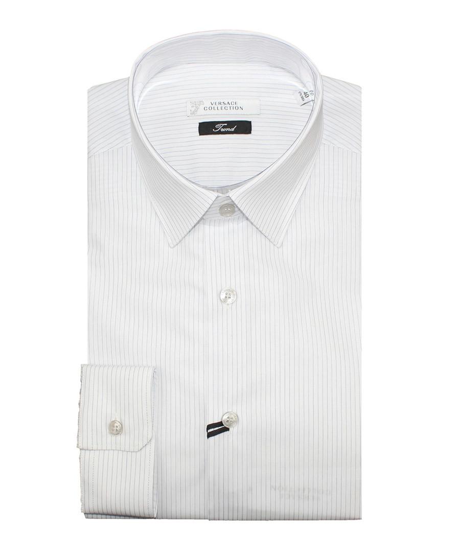 White pure cotton stripe shirt Sale - versace collection