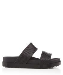 Melissa Cosmic Python black strap sandal