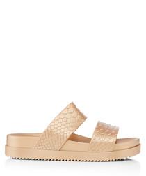 Melissa Cosmic Python gold strap Sandals