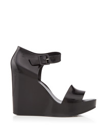 Mar Black Wedge Sandals