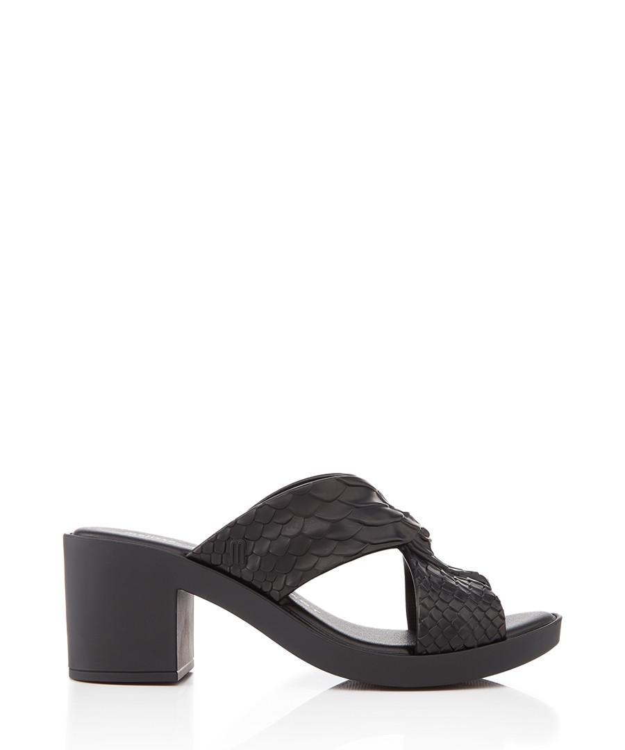 Mule Python black sandals Sale - melissa shoes