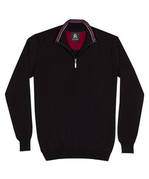 Black half-zip jumper