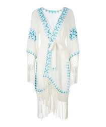 Dana chalk embroidered voile robe