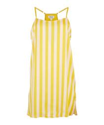 Canary stripe pyjama top