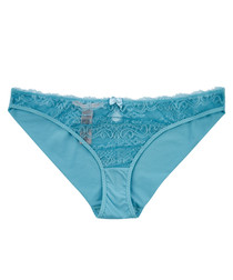Poppy Playing blue cut-out lace briefs