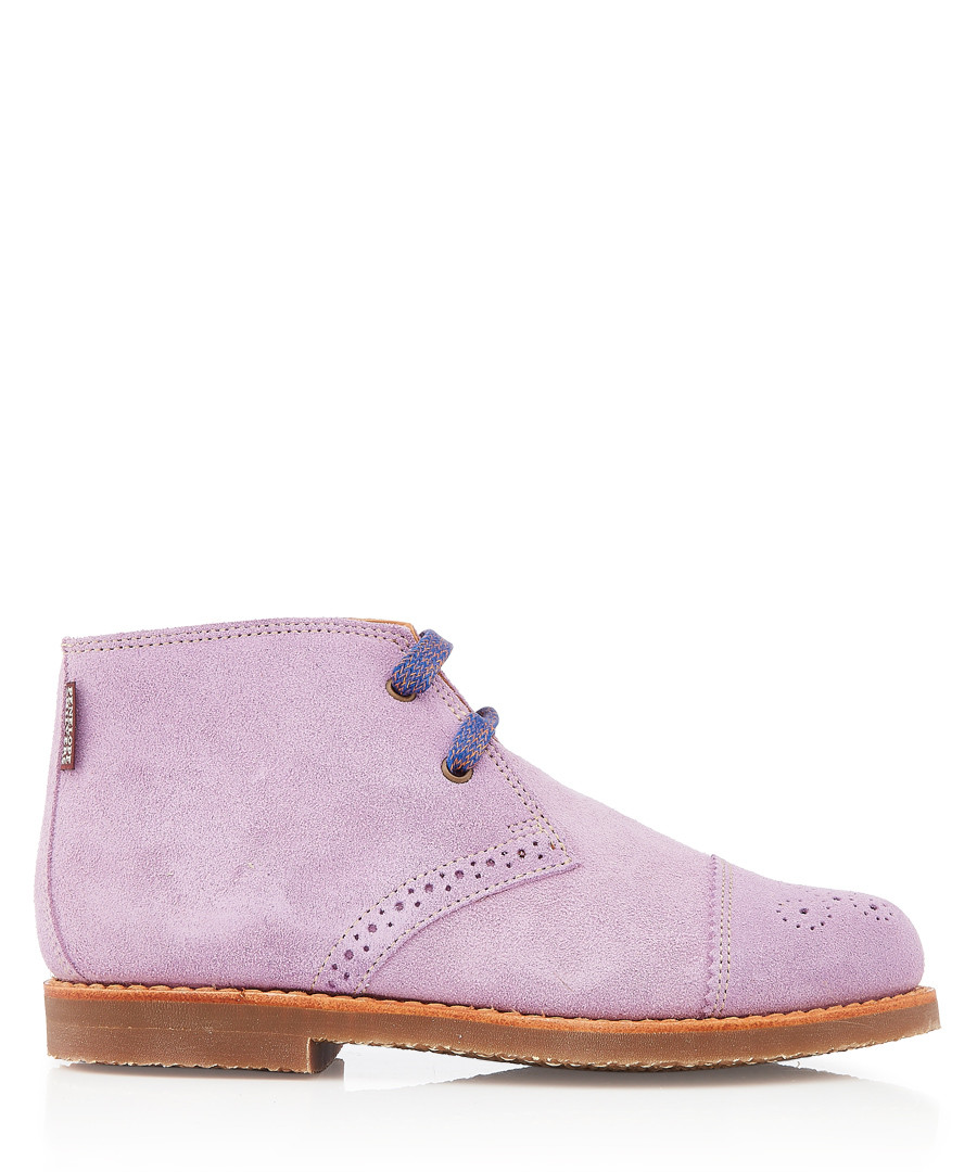 Wander lilac leather lace-up boots Sale - Penelope Chilvers