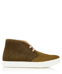 Jungle khaki leather desert boots