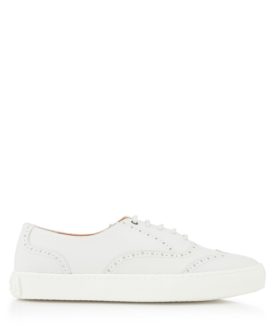 Dreamer white leather brogue sneakers Sale - Penelope Chilvers