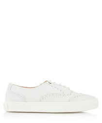 Dreamer white leather brogue sneakers