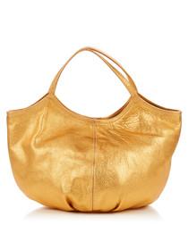 Pillow metallic leather bag