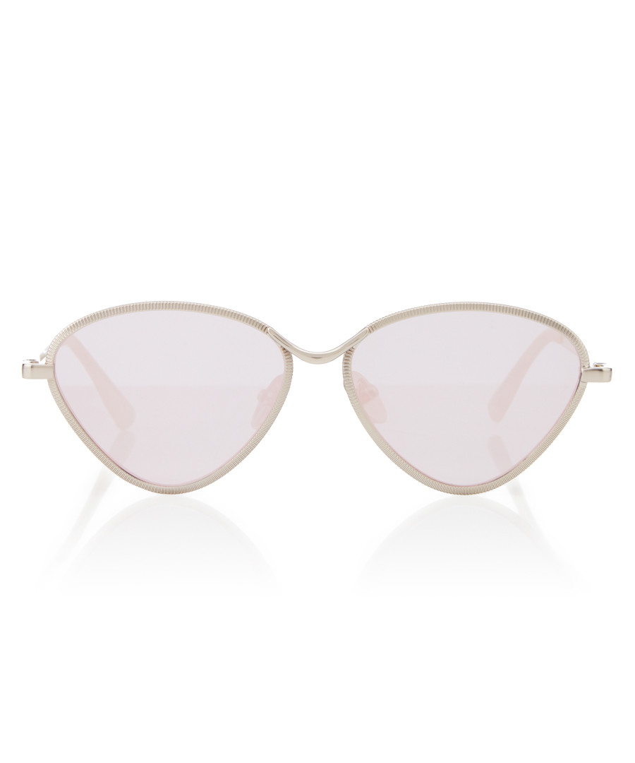 Bazaar silver-tone triangle Sunglasses Sale - le specs