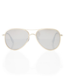 Empire gold-tone pilot sunglasses