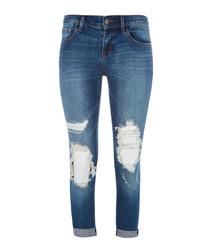 Sadey Decoy Destruct Slim Stright Cropped Jean