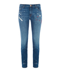 Johnny Mid-Rise Paint Splatters Boy Fit Jean