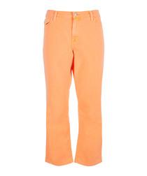 Selena Mid-Rise Crop Boot Cut Starburst Jean