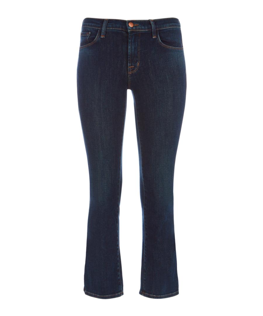 Selena Mid-Rise Crop Boot Cut Blue Jean Sale - J Brand