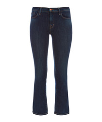 Selena Mid-Rise Crop Boot Cut Blue Jean