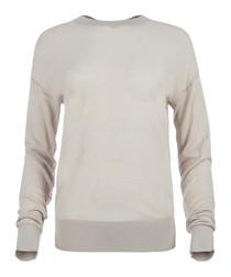 Oberon Sheer Mix Cotton Sweater