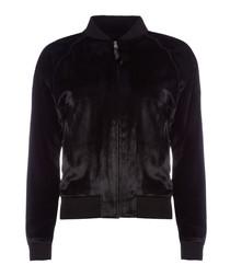 Velvet Pace Black Bomber Jacket