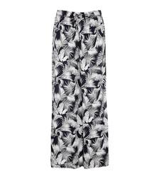 Chloe greyscale split-leg trousers