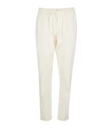 Ella chalk linen & cotton trousers
