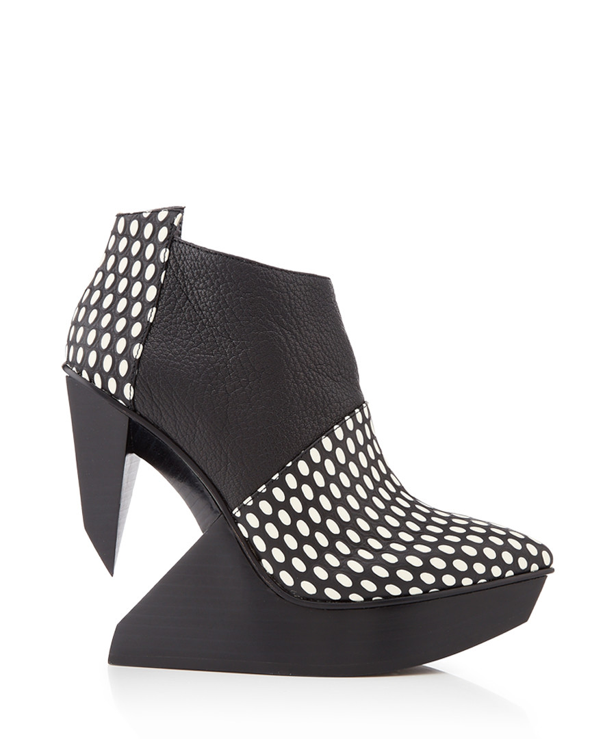 Edge monochrome leather polka boots Sale - United Nude