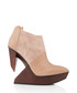 Edge blush leather & wood ankle boots Sale - United Nude Sale