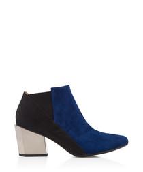 Tetra Jacky navy & black leather heels