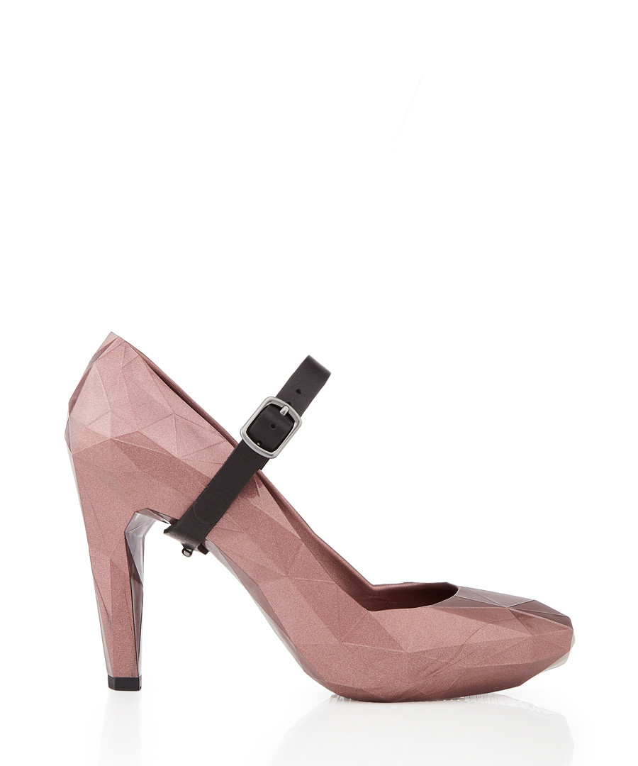 Lo Res blush rubber faceted heels Sale - United Nude