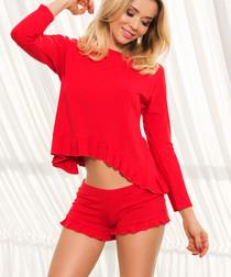 Romblon red pyjama set